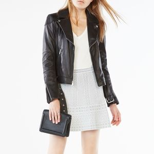 BCBG MAX AZRIA MILEY LEATHER JACKET